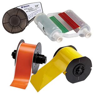 Verbrauchsmaterial (Farbbänder und Etiketten)