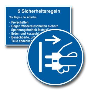 Gebotszeichen für Elektro, Anlagen, Maschinen