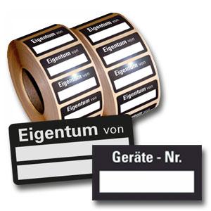 Standard-Inventar-Etiketten - auf Rolle