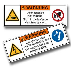 Maschinen- und Anlagenschilder,  ISO 3864-2