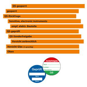QS-Bänder - QS-Plaketten