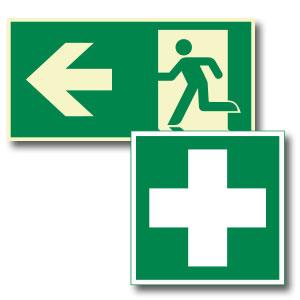 Rettungszeichen - Erste Hilfe Kennzeichnung