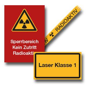 Strahlenschutz- und Laserkennzeichnung