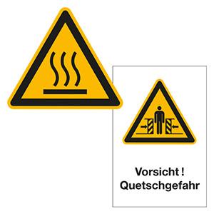 Warnschilder für Anlagen und Maschinen