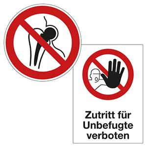 Zutrittsbeschränkungen