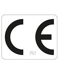 CE - Kennzeichen, weiß