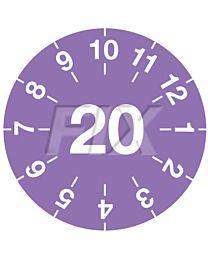 Miniprüfplakette - 2020