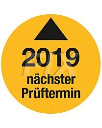 Prüfplakette - Nächster Prüftermin - 2019, Ø 30mm