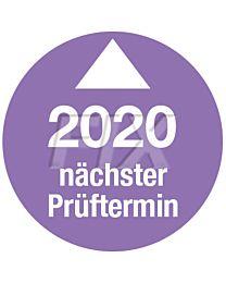 Prüfplakette - Nächster Prüftermin - 2020, Ø 30mm