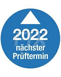 Prüfplakette - Nächster Prüftermin - 2022, Ø 30mm