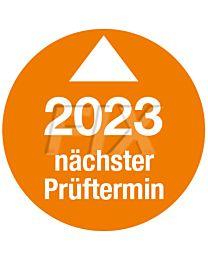 Prüfplakette - Nächster Prüftermin - 2023, Ø 30mm