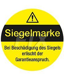 Siegelmarke für Garantieanspruch