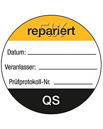 QS-Etikett: QS repariert