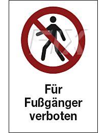 Für Fußgänger verboten