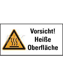 Vorsicht! Heiße Oberfläche