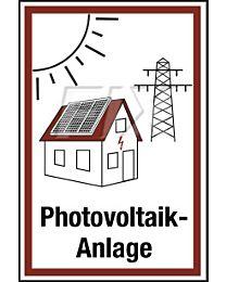 Hinweis auf Photovoltaikanlage