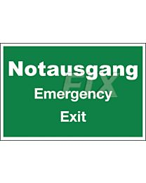 Notausgang - Emergency Exit