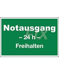Notausgang - 24h - Freihalten