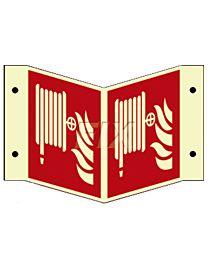 Winkelschild - Löschschlauch - LN