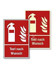 Feuerlöscher mit Text nach Wunsch