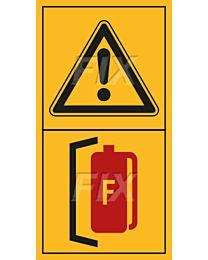 Inbetriebnahme nur mit geeignetem Feuerlöscher