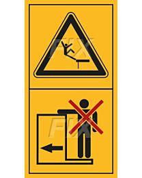 Mitfahrt auf Trittflächen ist nicht gestattet
