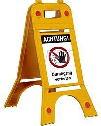 Warnaufsteller Durchgang verboten