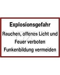 Explosionsgefahr - Rauchen verboten