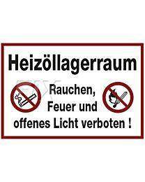 Heizöllagerraum-Rauchen,Feuer verboten