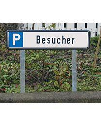 Befestigungsset für Parkplatzkennzeichen