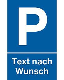 Parkplatz: Text nach Wunsch