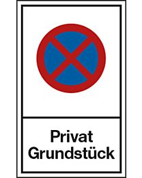 Halteverbot: Privat Grundstück