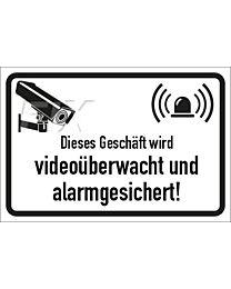 Videoüberwacht und alarmgesichert