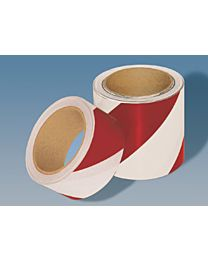 Warnmarkierungsband ohne rückseitiges Abdeckpapier, rot/weiß