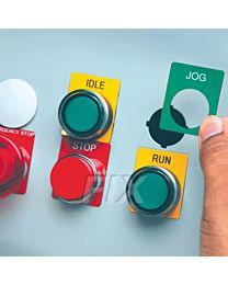 Typenschilder für Drucktasten / B-593 für BBP30-37