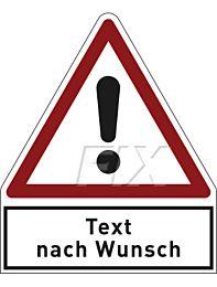 Gefahr mit Text nach Wunsch