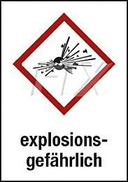 GHS - explosionsgefährlich