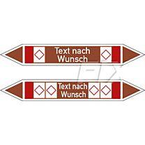 Rohrleitungskennzeichen - Gruppe 8 - brennb. Flüssigkeiten u. Feststoffe