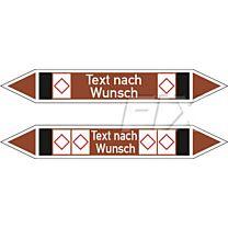 Rohrleitungskennzeichen - Gruppe 9 - nicht brennb. Flüssigkeiten u. Feststoffe