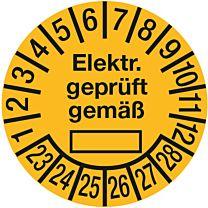 Prüfplakette - Elektr. geprüft gemäß