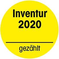 Inventuraufkleber 2020