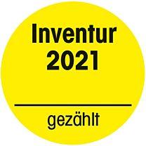 Inventuraufkleber 2021
