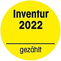 Inventuraufkleber 2022-gelb - gezählt