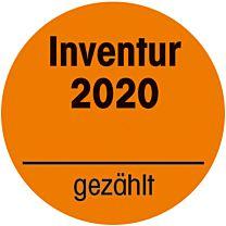Inventuraufkleber orange 2021  - gezählt