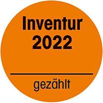 Inventuraufkleber orange -2022  - gezählt