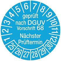 Geprüft nach DGUV Vorschrift 68