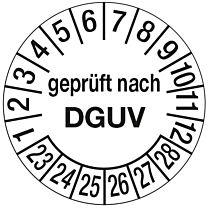 Prüfplakette - geprüft nach DGUV