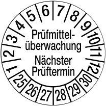 Prüfplakette - Prüfmittelüberwachung