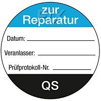 QS-Etikett: zur Reparatur