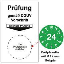 Grundplakette - Prüfung gem. DGUV